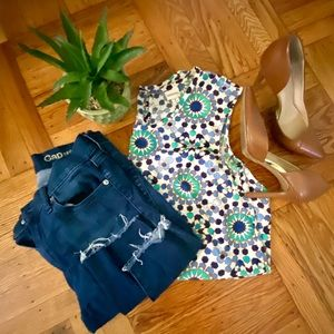 Jade patterned blouse